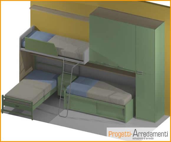 Progetti - Disposizione mobili cameretta ...
